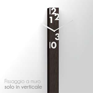 Orologio wengè Il tempo stringe in legno 6xh150cm