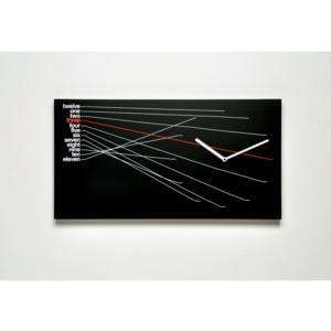 Orologio da parete Timeline in Legno verniciato 66x5xh35cm Nero