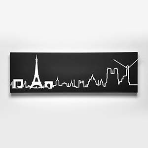Orologio da parete Skyline Parigi Nero
