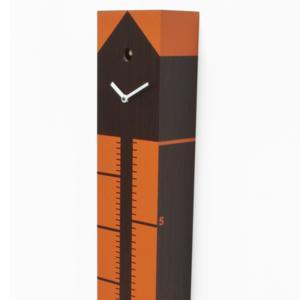 Orologio Cucu METER 15x16xh110 cm cassa in legno di rovere Scuro