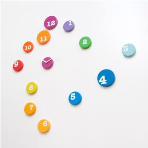Orologio Da Muro 13 Dischi FUN_TIME In Plastica dimensioni 13 cm