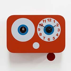 Orologio a cucu CUCCHINO 21x10xh17 cm in Legno Movimento al quarzo