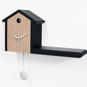 Orologio a Pendolo My House 40x10xh30cm in legno chiaro contorni neri