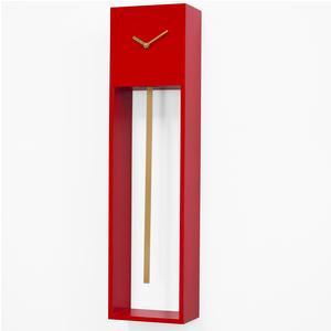 Orologio in legno 20x12xh78 cm Uaigong rosso con asta oro