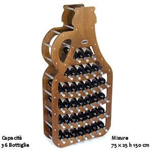 Negozio original legno vendita online for Portabottiglie leroy merlin