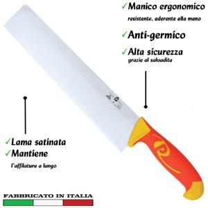 Coltello per pasta lama inox 24 cm Manici in polipropilene gomma antiscivolo atossici. trattamento germicida. adatto lavastov