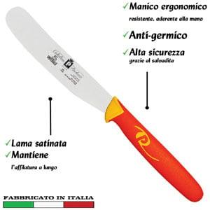 Coltello snack lama inox 11 cm Manici in polipropilene gomma antiscivolo atossici. trattamento germicida. adatto lavastovigli