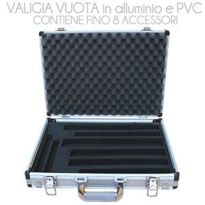 Valigia vuota in alluminio e PVC