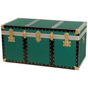 Baule contenitore portabiancheria 80x47xh46 cm - 158 Lt in Legno pressato verde