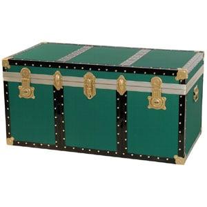 Baule contenitore portabiancheria in Legno pressato 120X55Xh55 cm - 330 Lt Verde