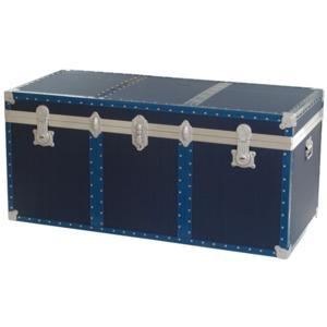 Baule contenitore in Legno portabiancheria 120x55xh55 cm - 330 Lt Colore blu