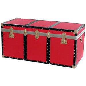 Baule contenitore portabiancheria Legno pressato 120x55xh55cm - 330 Lt Colore Rosso