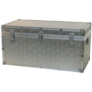 Baule contenitore portabiancheria in legno pressato 110x55xh55cm - 303 lt Alluminio Easy