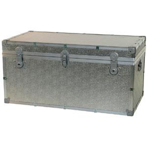 Baule contenitore portabiancheria in legno pressato 100x53xh50 cm - 245 lt Alluminio Easy