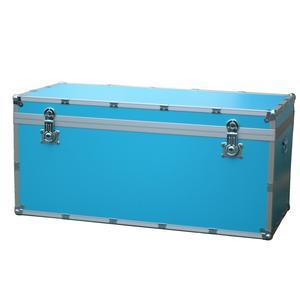 Baule contenitore in Legno portabiancheria 120x55xh55 cm - 330 Lt Colore Celeste