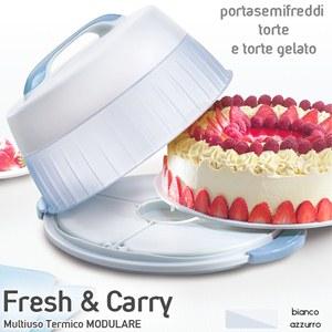 Tortiera da trasporto Fresh Carry Ideale per il trasporto ed il consumo a distanza di ore di dolci