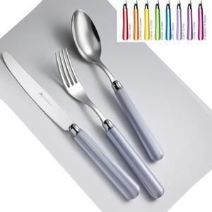 Set Posate Colorate BATEAU 1 Coltello 1 Forchetta 1 Cucchiaio 1 Cucchiano caffe in acciaio 1810