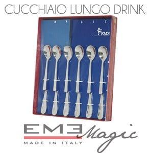 Cucchiaini Latte drink 6 pezzi Magic lunghezza 190 mm per miscelare spremute, cocktail e latte macchiato