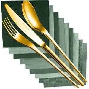 Servizio Posate JOLI TIN GOLD 24 pezzi acciaio inox 1810 Finitura TIN GOLD Oro spessore 4.0 mm in astuccio regalo EME
