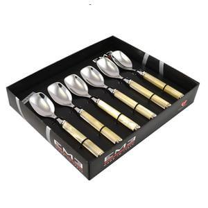 Confezione 6 Cucchiani Gelato PERLATO in confezione regalo