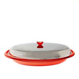 Porta pirofila ovale con porcellana