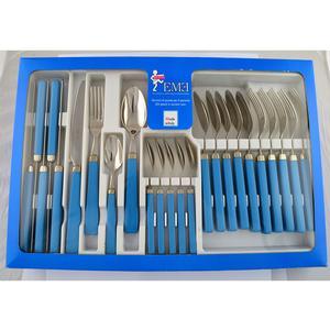 Servizio Posate 24 Pezzi PROFI Azzurro in confezione regalo