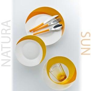 Posto Tavola NATURA SUN in New Bone China lavabile in lavastoviglie 7 pezzi