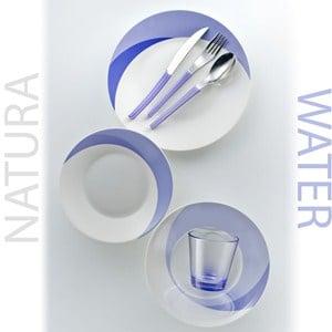 Posto Tavola NATURA WATER in New Bone China lavabile in lavastoviglie 7 pezzi