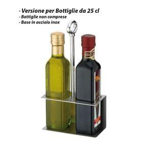 Portabottiglie olio - versione per bottiglie 25 cl.