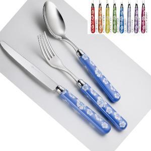Set Posate colorate TIARRE' 1 Coltello 1 Forchetta 1 Cucchiaio 1 Cucchiano caffe in acciaio 1810