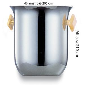 Secchiello Champagne diametro Ø20,5xh21 cm SEVILLE in acciaio inox Lucido manici colorati
