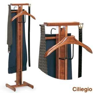 Indossatore appendiabiti richiudibile in legno massiccio PELLICANO Ciliegio