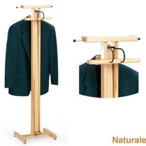 Indossatore appendiabiti richiudibile in legno massiccio PELLICANO Naturale