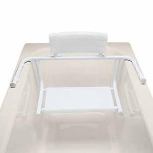 Sedile per vasca da bagno fisso con spalliera