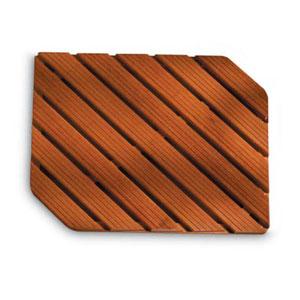 Pedana doccia in legno 56x74xh5 cm Legno Gombe con olio di Lino due angoli smussati