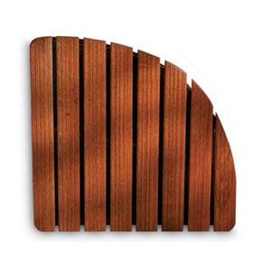 Pedana per doccia in legno 64x64xh5 cm angolare dimensioni Legno Gombe con olio di Lino