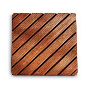 Pedana doccia in legno 54 x 54 x h5 cm ad alta resistenza dimensioni Legno Gombe con olio di Lino
