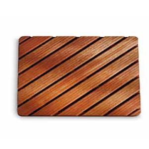 Pedana doccia in legno 50x80xh5 cm ad alta resistenza dimensioni Legno Gombe con olio di Lino