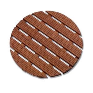 Pedana doccia in legno diametro 60xh5 cm rotonda diametro Legno Gombe con olio di Lino
