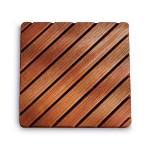Pedana doccia in legno 75 x 75 ad alta resistenza varie dimensioni Legno Gombe con olio di Lino