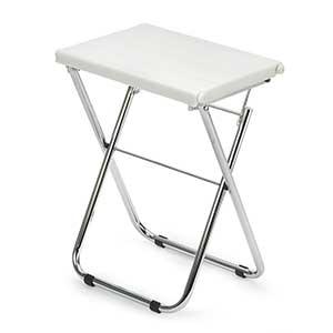 Sgabello da bagno con sedile in plastica pieghevole richiudibile