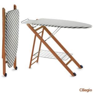 Tavola da stiro regolabile in tre altezze realizzata in legno il telaio COMPACSTIR Cherry Naturale