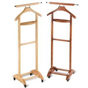 Indossatore appendiabiti in legno con vaschetta portaoggetti semplice GARRET