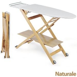Asse da stiro in legno massiccio regolabile 3 altezze REGOLSTIR Naturale