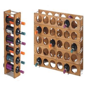 Cantinetta portabottiglie 5cm sovrapponibile o da appendere in legno di pino - Portabottiglie di vino in legno ...