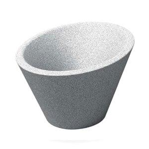 Portavaso Dorico per esternointerno in polietilene Granito 680xh370xh500