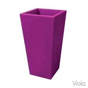 Portavaso EGIZIO liscio 32x22xh55 cm per esternointerno in polietilene Viola