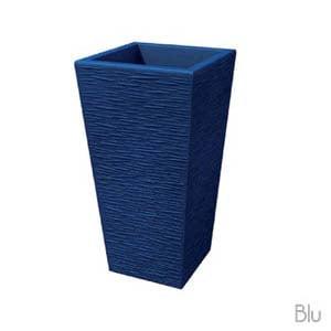 Portavaso EGIZIO rustico 65cm Blu