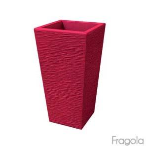 Portavaso EGIZIO rustico 90cm Fragola