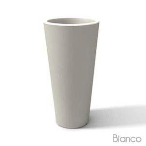 Portavaso alto GOTICO liscio 90cm Bianco